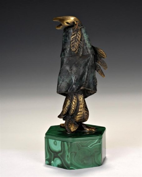 Grandfather Raven with Malachite Box