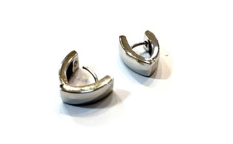 Earrings - Huggies Wedge Sterling Silver