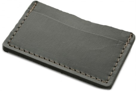 Leather & Wool Single Track Wallet - Saddle & Charcoal  RU26