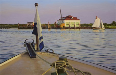"William B. Hoyt | Sunset in Cuttyhunk | Oil on Linen | 20"" X 32"" 