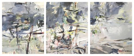 "Jeffrey T. Fitzgerald | Island Arc (Triptych) | Acrylic on Canvas | 30"" X 72"" 