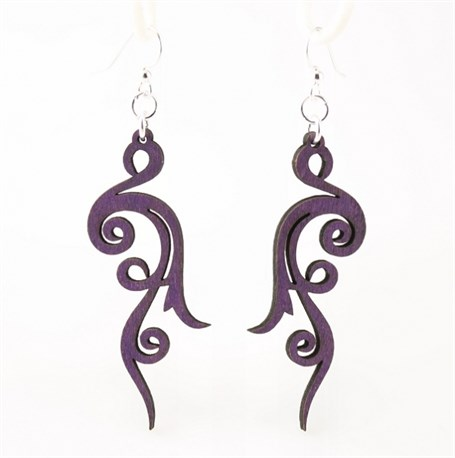 Earrings - Small Scroll 1027