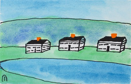 Three Houses in the Mountains