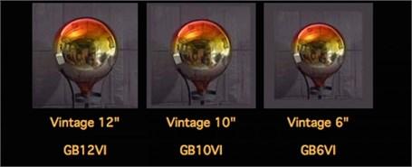 Gazing Globe - Punxsutawney Vintage Red To Silver - 6