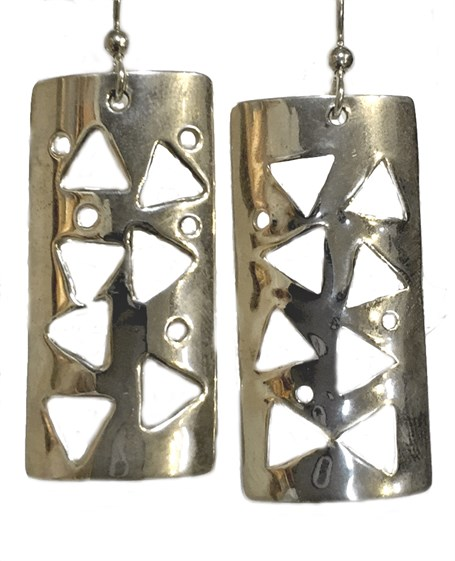 Earrings - Sterling Silver Confetti  E-546