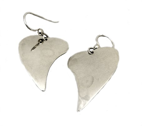 Earrings - Sterling Silver Simple Heart  E-011