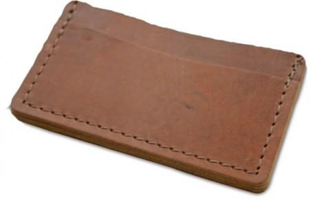 Leather Single Track Wallet - Saddle  RU23