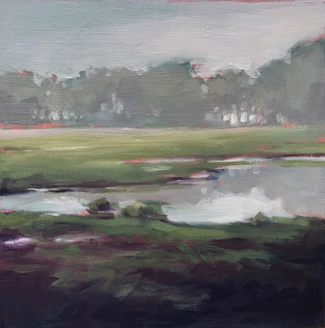 "Margaret Gerding | Morning Light-Day 5 | Oil on Panel | 8"" X 8"" 