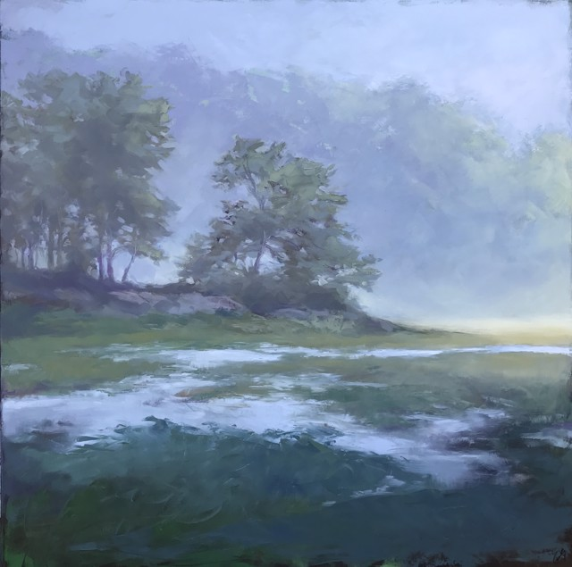 "Margaret Gerding | Measured in Moments VIII | Oil on Canvas | 36"" X 36"" 