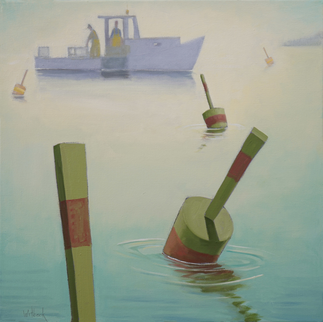 "David Witbeck | Burning Off | Oil on Canvas | 20"" X 20"" 