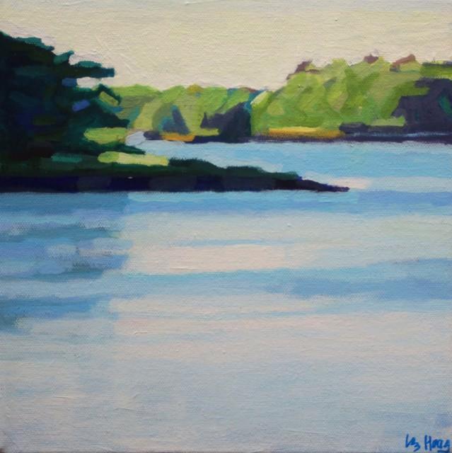 "Liz Hoag | Lake Living | Acrylic on Canvas | 10"" X 10"" | Sold"