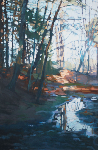 "Liz Hoag | Morning Reflection - Designer's Choice, People's Choice #1 | Acrylic on Canvas | 36"" X 24"" 