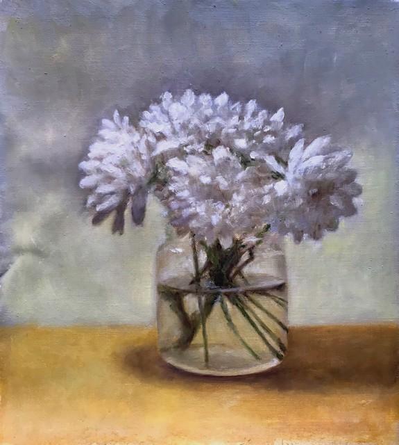 "Christopher Castelli | Market Flowers | Oil | 10"" X 9"" | $850.00"