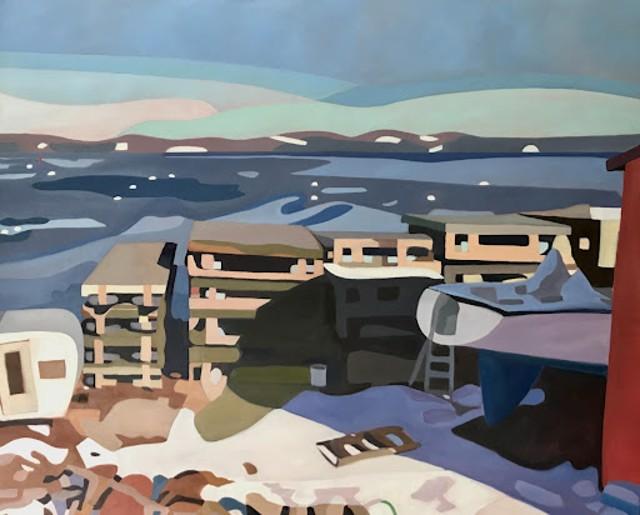 Boatyard, Winter