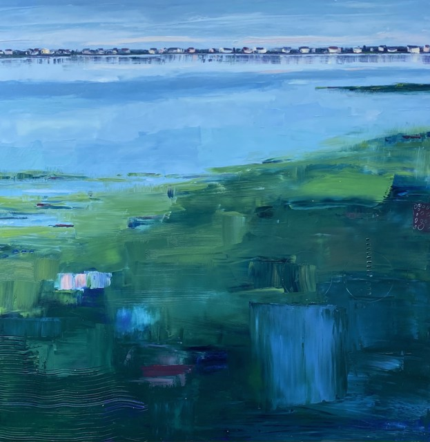 """Bethany Harper Williams   Morning Calm   Oil on Canvas   41"""" X 41""""   $3,700.00"""