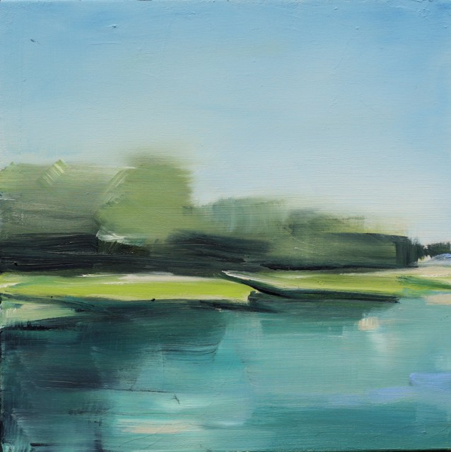 "Ingunn Milla Joergensen | Kennebunk River Sketch 3 | Oil on Canvas | 10"" X 10"" 