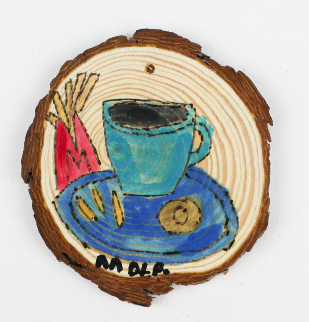 Coffee/Bagel (ornament)