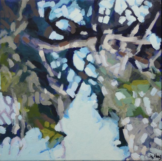 "Liz Hoag | Limbs I | acrylic | 12"" X 12"" | Sold"