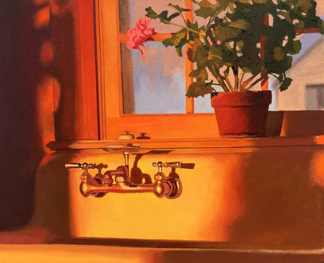 "William B. Hoyt | Morning Sun | Oil on Canvas | 16"" X 20"" 