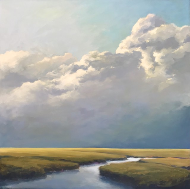 """Margaret Gerding   Low Clouds IV   Oil on Canvas   36"""" X 36""""   Sold"""