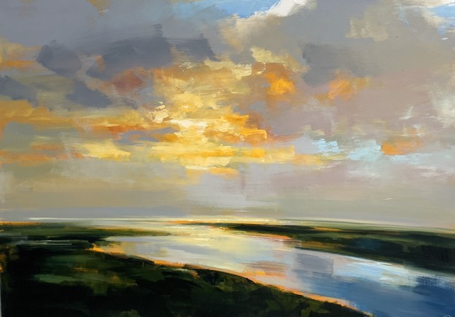 "Craig Mooney | Burning Through | Oil on Canvas | 42"" X 60"" 