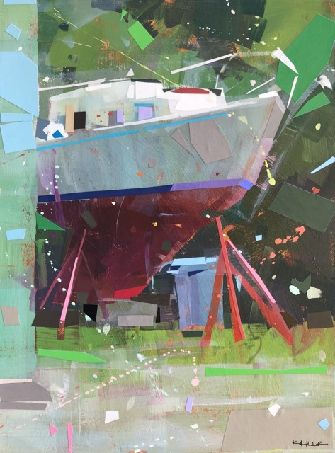 "Ryan Kohler | Wane | Mixed Media on Canvas | 24"" X 18"" | Sold"