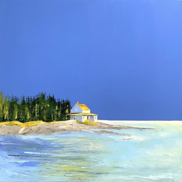 "Janis H. Sanders   High Tide Island   Oil on Panel   36"" X 36""   Sold"