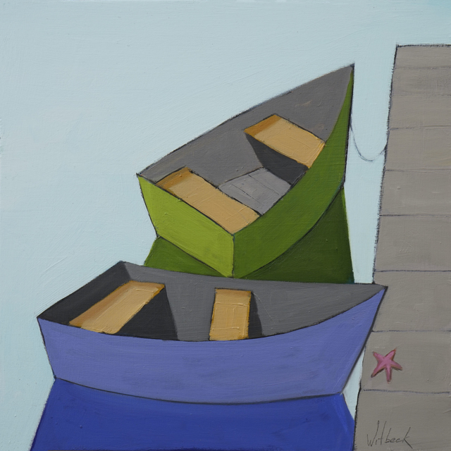 Blue and Green Dinghy