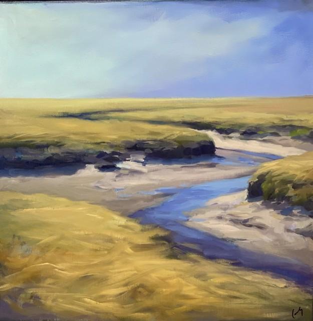 """Margaret Gerding   Awakening   Oil on Canvas   18"""" X 18""""   Sold"""