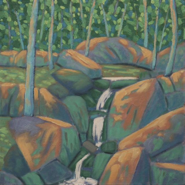 "R. Scott Baltz | Spring Rush | Oil on Panel | 12"" X 12"" | Sold"