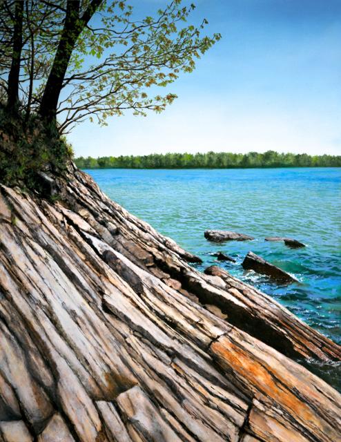 "Alex Dunwoodie | Wolfe's Neck Ridge, Spring | Oil on Panel | 24"" X 20"" | Sold"