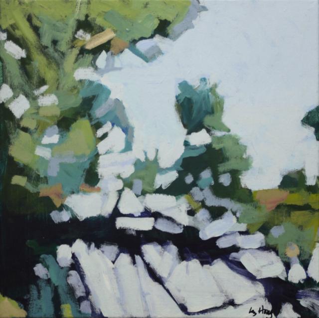 "Liz Hoag | Limbs II | acrylic | 12"" X 12"" | Sold"