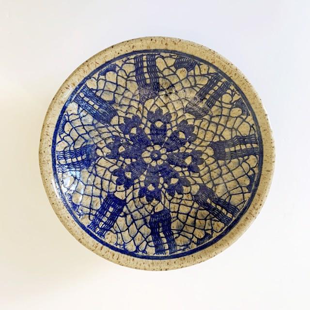 "Richard Winslow | Blue Inlay Design Bowl | Ceramic | 2.5"" X 10"" | $90.00"