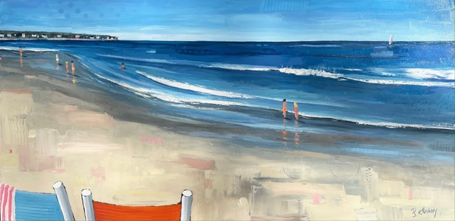 """Bethany Harper Williams   Front Row Seats   Oil on Canvas   30"""" X 60""""   $3,900.00"""