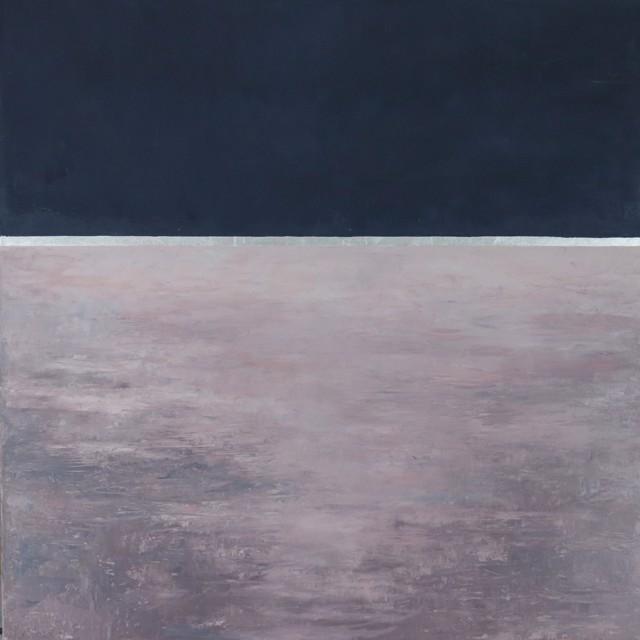 "Ellen Welch Granter | Winter Ocean | Oil and Metal Leaf on Canvas | 30"" X 30"" | $3,100.00"