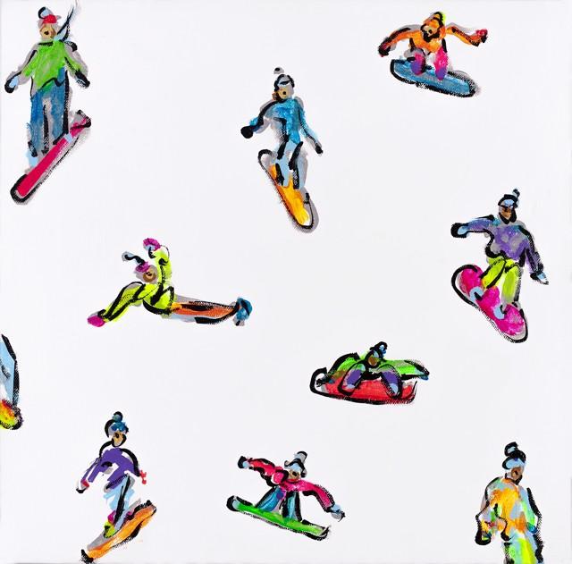 Neon Snowboarders