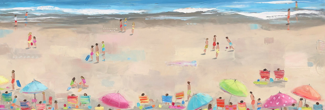 "Bethany Harper Williams | The Memories We Make | Oil on Canvas | 25"" X 72"" 