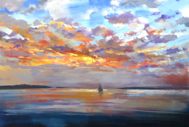 "Craig Mooney | Island Sky | Oil on Canvas | 40"" X 60"" 