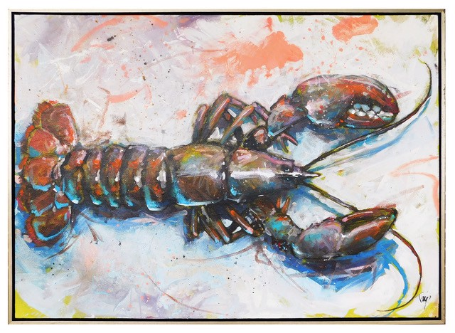 "Trip Park | Rockin' Lobsta' | Mixed Media on Canvas | 36"" X 48"" 