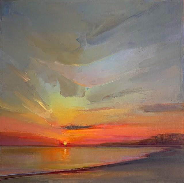 "Holly Ready | Awakening | Oil on Canvas | 18"" X 18"" | $2,000.00"