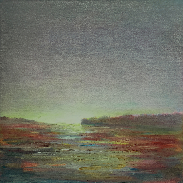 "Julie Houck | Last Light | Oil on Linen Mounted on Panel | 12"" X 12"" 