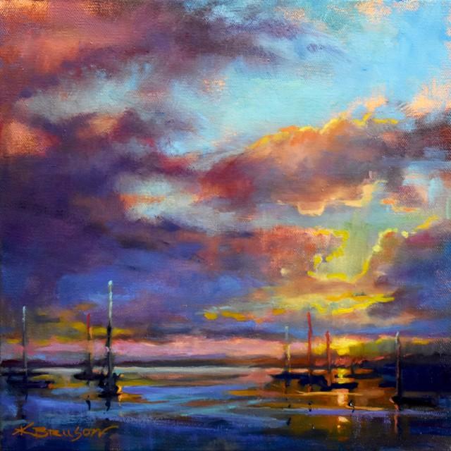 "Karen Bruson | End of Day | Oil on Canvas | 12"" X 12"" | $495.00"