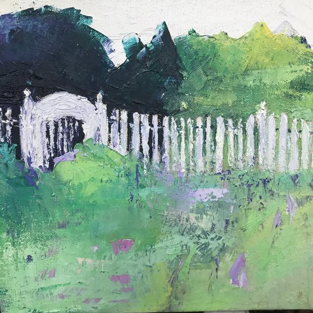 "Janis H. Sanders   Summer Flowers   Oil on Canvas   8"" X 8""   $375.00"