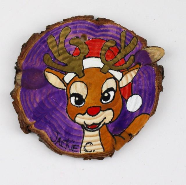 Rudolph/Snowman ornament