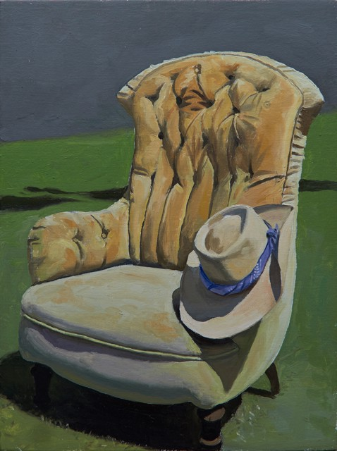 "William B. Hoyt | Seat in the Sun | Oil on Canvas Stretched on Panel | 16"" X 12"" 