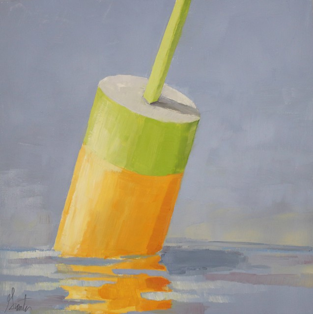 "Ellen Welch Granter | Key Lime | Oil on Panel | 12"" X 12"" 
