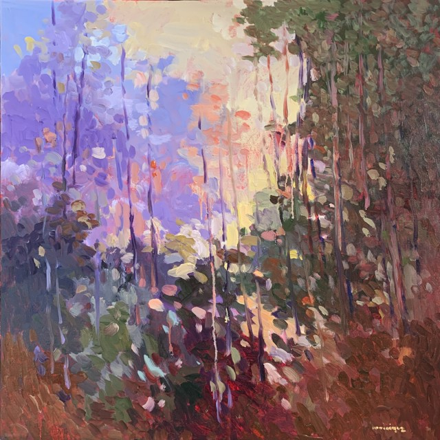 "Monique Sakellarios | The Rain Forest | Oil on Canvas | 24"" X 24"" | $2,500.00"