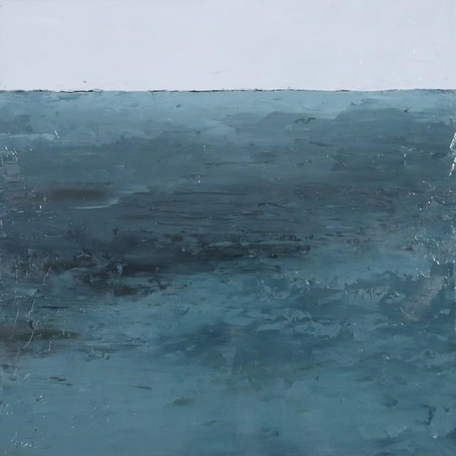 "Ellen Welch Granter | Aquamarine | Oil on Panel | 20"" X 20"" | $2,000.00"