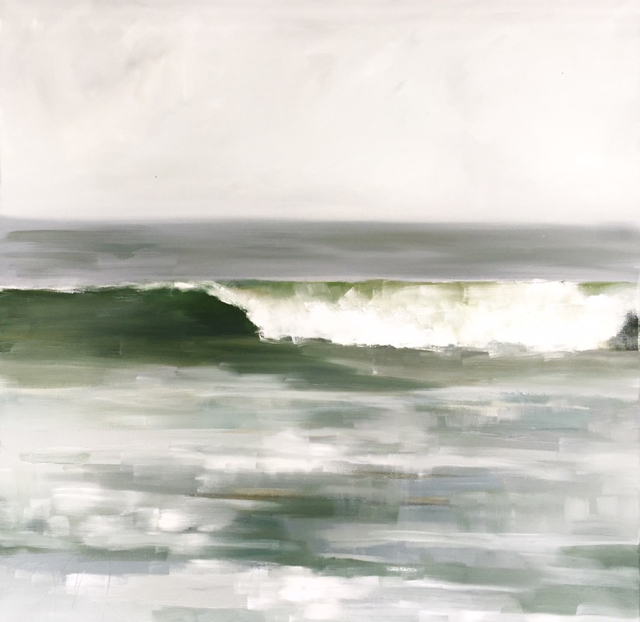 "Jill Matthews | Samuel's Wave | Oil on Canvas | 30"" X 30"" 