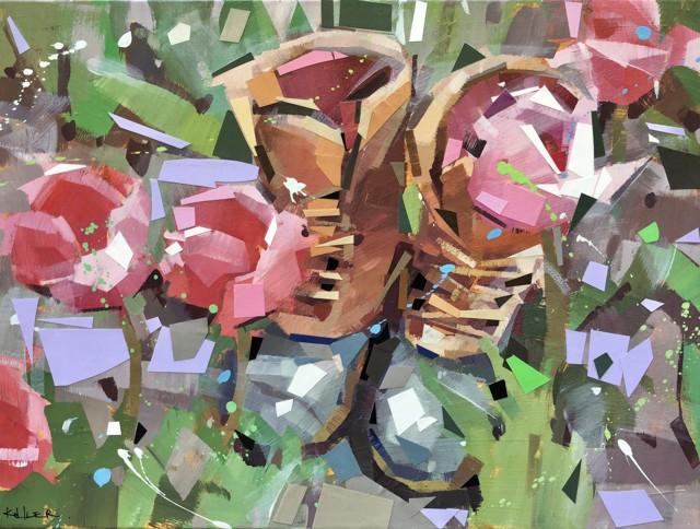 "Ryan Kohler | Mosey | Mixed Media on Canvas | 18"" X 24"" | Sold"